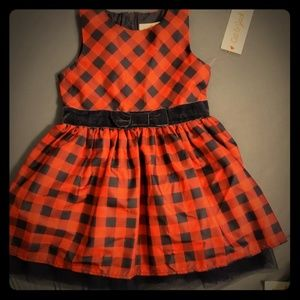 Adorable Cat & Jack A- Line Holiday Dress-3T